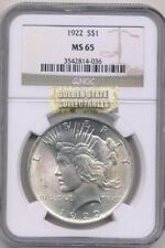 1922 $1SILVER PEACE DOLLAR NGC MS65 BRILLIANT