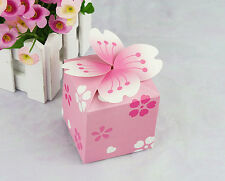 50pcs pink cherry blossom Wedding Favor box candy box Marriage Party gift Box