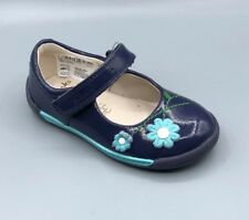 """NEW Clarks """"Softly Jam FST"""" Girls Navy Patent Leather First Shoes UK 4.5 E"""