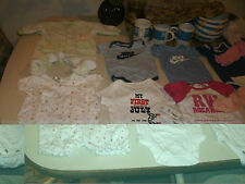 Baby girls 17 piece onesie mixed lot size 0 - 3 months