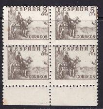 España 1949. Cid y General Franco bloque de 4. Edifil 1044ed. Variedad. MNH. **.