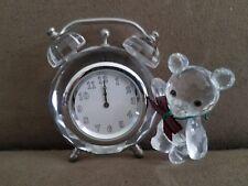 Swarovski Crystal Kris Bear Table Clock 7481NR000001/212687 Retired