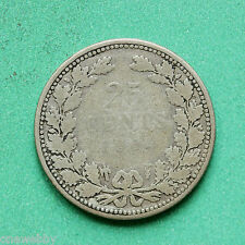 1904 Netherlands Silver 25 Cents SNo32804