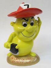 IN CASE OF FIRE - REMOVE HAT - Not Now Stupid! figurine 1960's crazy fireman