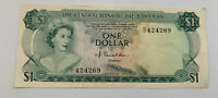 L1974 The Central Bank of The Bahamas One Dollar Banknote Nice Condition