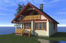 Ecofriendly Laminated Prefab Log House Kit DIY Building Cabin Home Kit 1082sq.ft