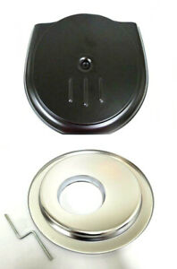 Black Retro Cadillac Style Complete Air Cleaner Kit with Chrome Offset Base