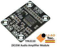 TPA3110 2X15W Digital Audio Stereo Amplifier Mini Binaural 15W+15W Ultra PAM8610