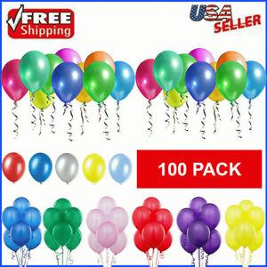 100pcs Balloons Latex Birthday Party Colorful 10 Inch Wedding Bachelorette Decor