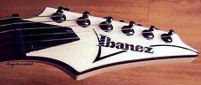 """Ibanez  5.5"""" BLACK guitar headstock decal, logo die cut sticker"""