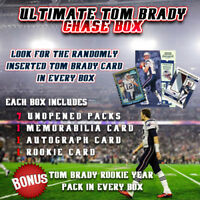 2000 CONTENDERS ULTIMATE TOM BRADY CHASE BOX - 8 PACKS + AUTO + JERSEY + ROOKIE
