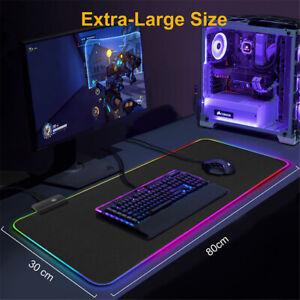 800*300*4 LED UK Gaming Mouse Pad Computer Big Mouse Pad RGB PC Desk Play Mat