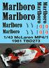 1/43 McLaren MP4/1 1981 F1 Decals TB Decal TBD273