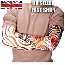 6 Pack of Unisex Elastic Fake Temporary Tattoo Sleeve Designs - UK SELLER!
