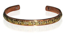 """Copper Clad  Magnetic Therapy Cuff Bracelet with Chain Top 7.5"""""""