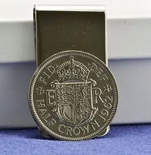 English Elizabeth II Half Crown Coin Money Clip