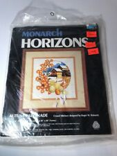 MONARCH HORIZONS Crewel Kit AUTUMN SERENADE 14X14 1979 Floral Mill Fall Craft