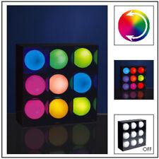 Lampe Paulmann multicolore - 9 boules led couleurs changeantes en très bon état