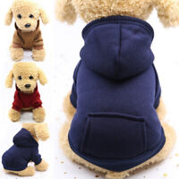 Winter Pet Puppy Warm Jacket Clothes Dog Hoodie Coat Apparel Jumper Sweater New