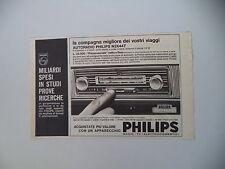 advertising Pubblicità 1964 AUTORADIO PHILIPS N3X 44T