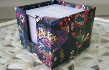 Vera Bradley Note Cube - Midnight Wildflowers