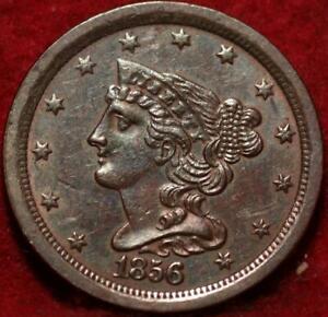 1856 Philadelphia Mint Copper Braided Hair Half Cent