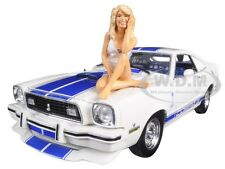 1976 MUSTANG COBRA II FARRAH FAWCETT CHARLIES ANGELS 1/18 BY GREENLIGHT 12880-B
