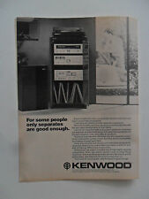 1978 Print Ad KENWOOD DC Amplifier Stereo System ~ Separates Are Good Enough