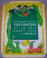 FOO FIGHTERS concert gig poster print BOSTON Fenway 7-19-15 2015 Morningbreath