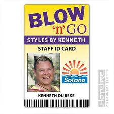 Plastic ID Card (TV Series Prop) - BENIDORM Blow n Go Salon - Kenneth du Beck