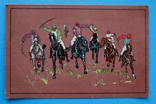 Litho AK Jockey Pferd Pferdesport Pferderennen 1905-20 Künstlerkarte Rennsport