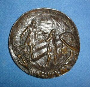 """Rare 1982 San Francisco Opera Medal, """"Un Ballo In Maschera"""", Marika Samogyi, Sc."""