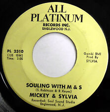 MICKEY & SYLVIA 45 Souling With M & S / Anytime VG++ Soul FUNK c2071