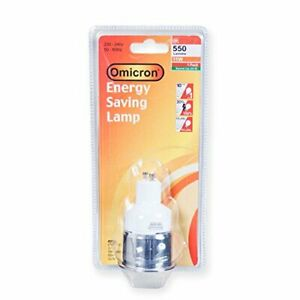 Omicron GU10 7 Watt 7W Energy Saving Bulb Compact Fluorescent Light Spotlight