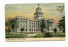 Pre 1910 Used Post Card State Capitol Building Omaha Nebraska NE Stamp 1909