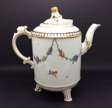 "Antique Continental Ludwigsburg Porcelain Teapot 18th Century c1780 17cm 6.75"""