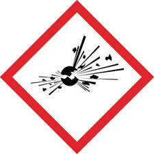 1x GHS Aufkleber Explosiv 10x10cm Explosionsgefährlich PE-Plastik