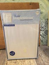 Bridal Inspirations Blank Wedding Invitations +100 Ct Envelope Embossed