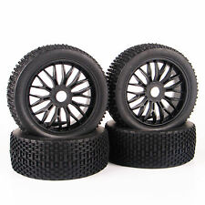 4Pcs RC Rubber Tires&Wheel Rim 17mm Hex For Traxxas 1:8 Off-Road Buggy Car