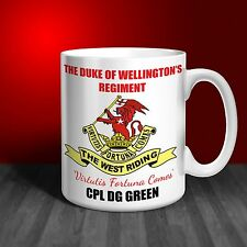 The Duke of Wellington's Regiment Personalised Ceramic Mug Gift