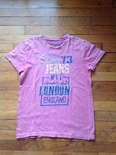 T-shirt Pépé Jeans vieux rose taille 14 ans Manches Courtes