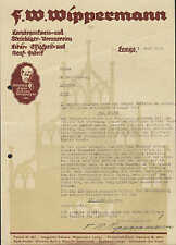 LEMGO, 2 x Brief 1931/33, Kornbranntwein- u. Steinhäger-Brennereien Wippermann