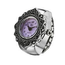 Stylish Vintage Creative Lady Girl Round Elastic Quartz Finger Ring Watch Women