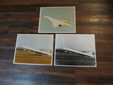 3 Vintage 8x10 photographs - BRANIFF INTERNATIONAL AIRLINES CONCORDE