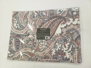NWT Ralph Lauren Laveen Paisley Red Blue White Set of 4 Placemats 14x19 NEW