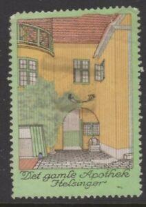 Denmark Advertising Stamp The Old Pharmacy Helsinger - NG