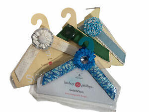 Lindsey Phillips Switch Flops Straps Small size 5-6 Lot of 4 Blue Green White