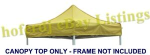 5x5 Yellow Replacement Canopy Top Outdoor Pop up Canopy Pavilion Tent Shelter