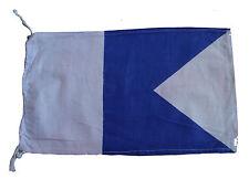"A - Naval Signal Flag - 100% Cotton – Marine Code - 8"" X 13"" - Nautical / Boat"