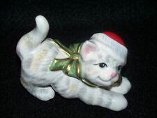 Kitty Kringle Christmas Tumbling Cat Porcelain Figurine Ornament Fitz Floyd B2